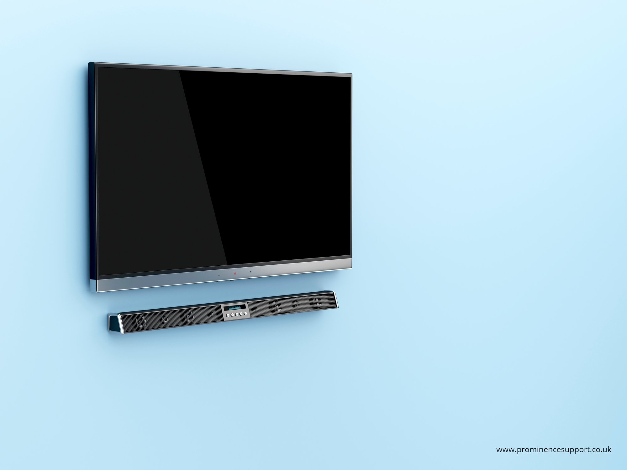 TV with Sound bar