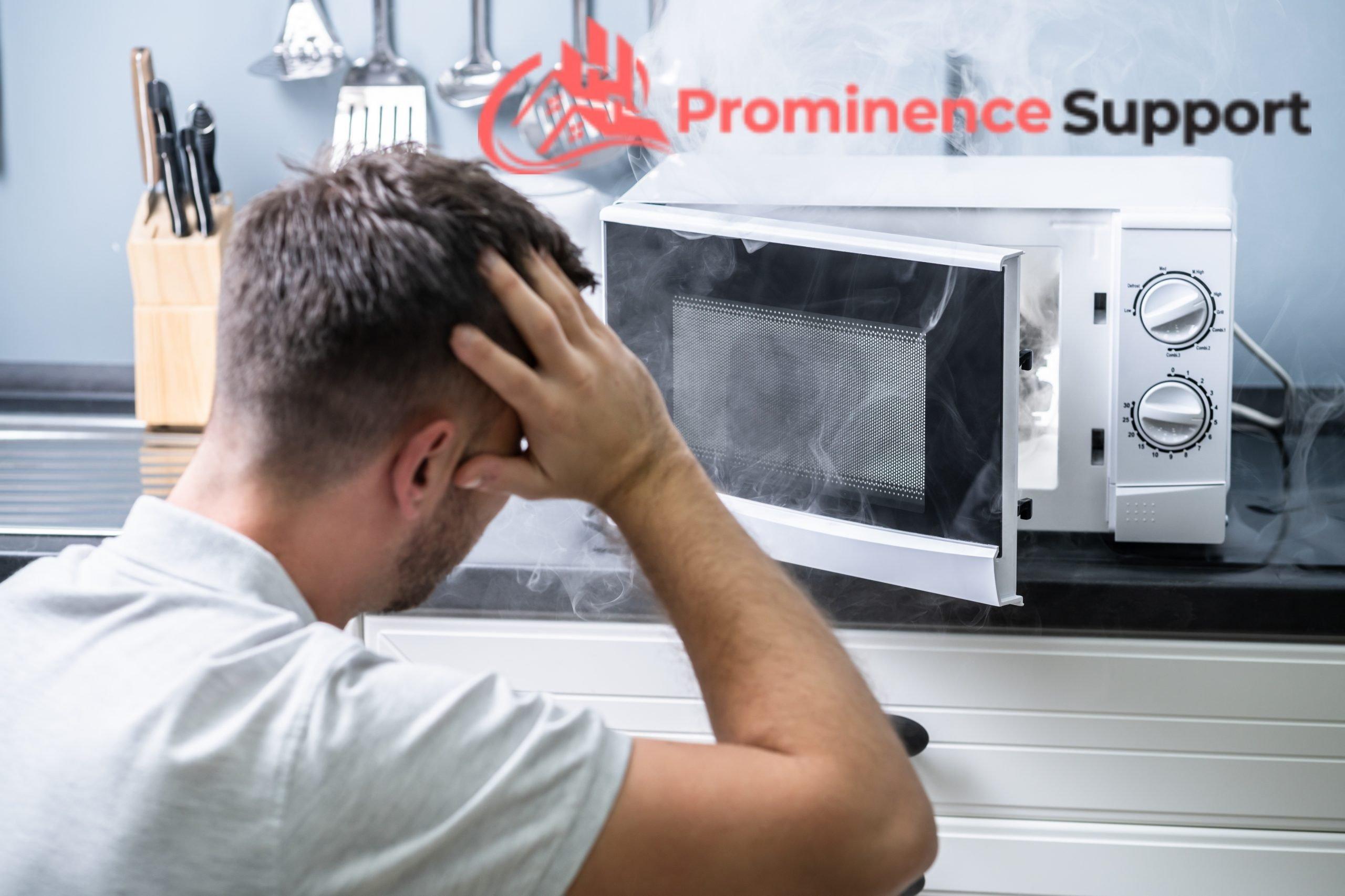 accidentally damaged microwave